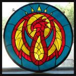 Izzet guild symbol window (Magic the Gathering)