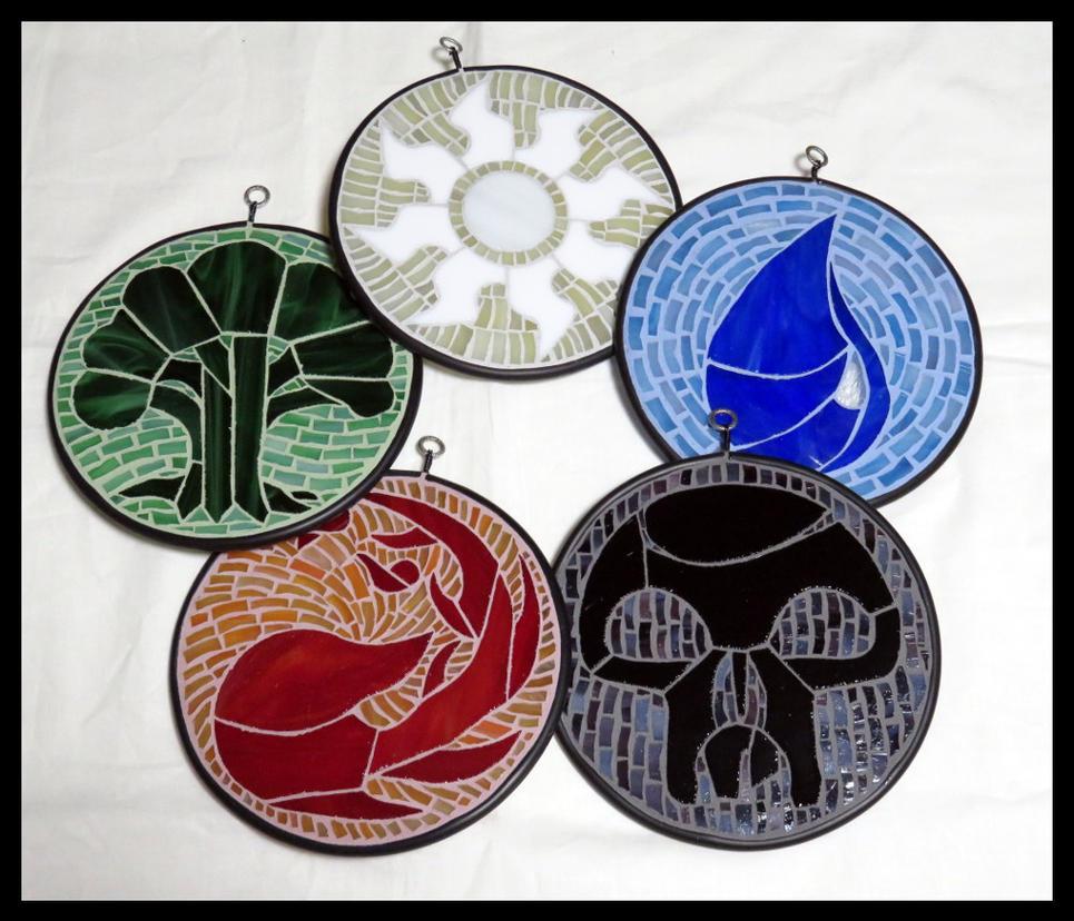 2016 10 21 Mtg Mana Symbols Commission By Vitrigeek On Deviantart