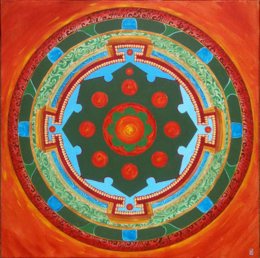 Mahakala Mandala Round By HartwellArts On DeviantArt