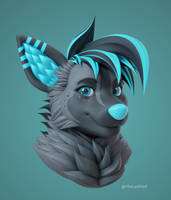 Sparky 3D Bust by VladLad