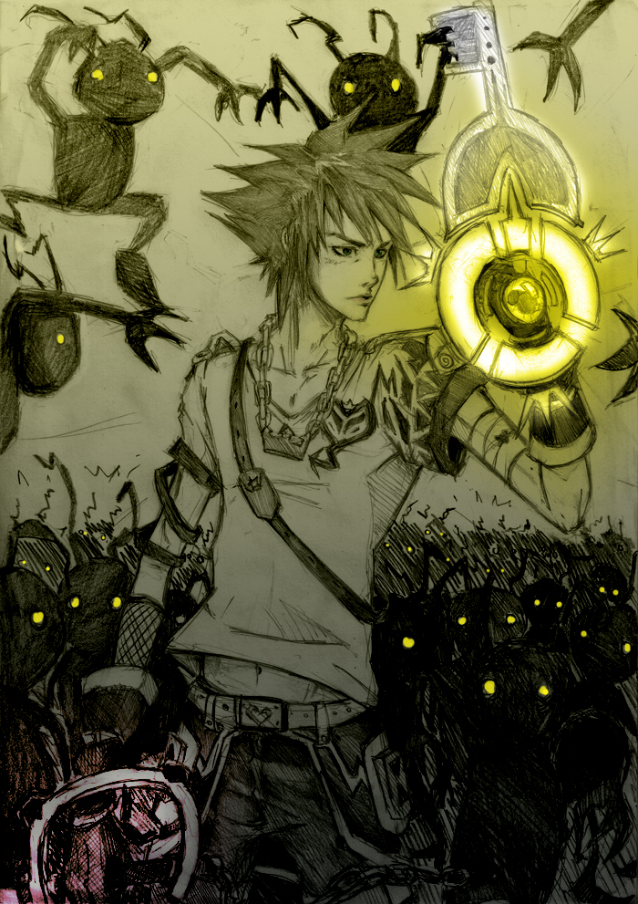 Sora  into the darkness by Sanzo-Sinclaire