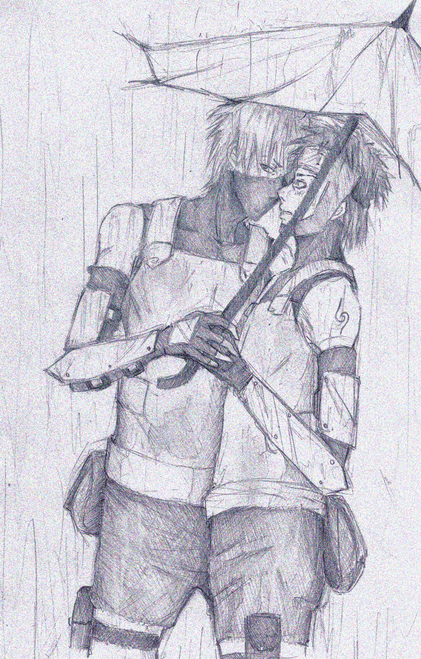rain drops are falling on ANBU by Sanzo-Sinclaire