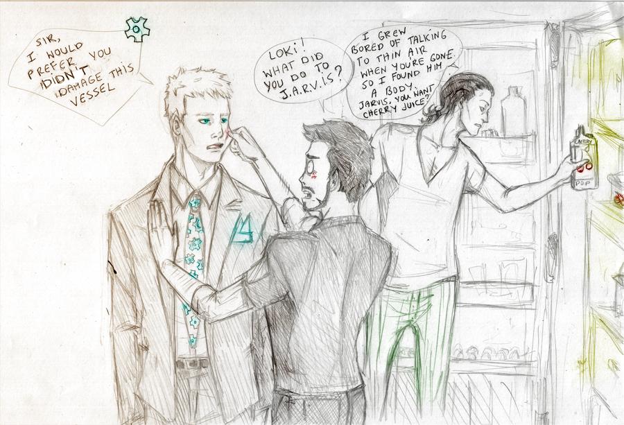 Loki team up - J.A.R.V.I.S by Sanzo-Sinclaire