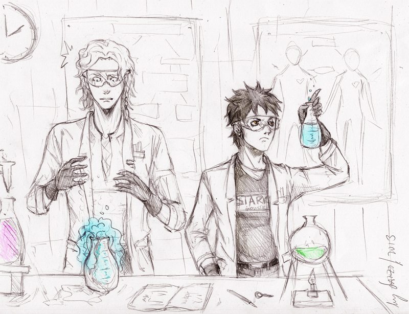 Lab buddies by Sanzo-Sinclaire