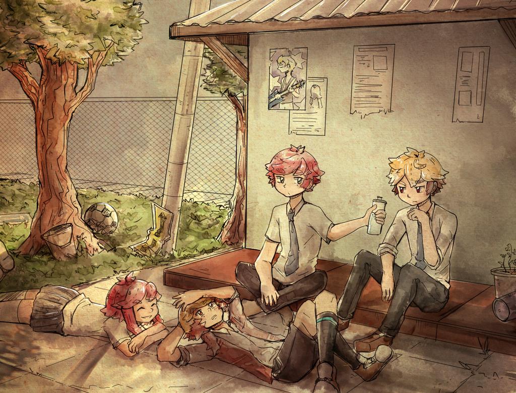 After school by Ekkoberry