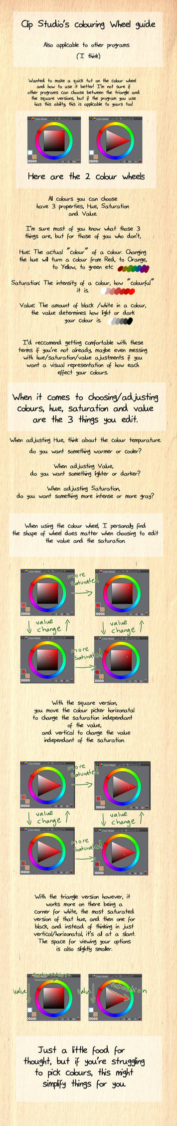 Colour Wheel Tips