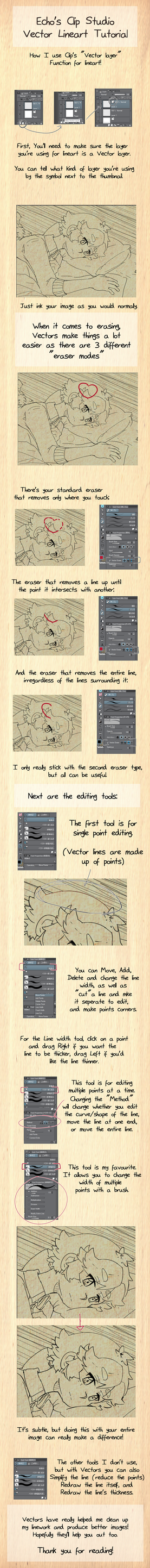 Clip studio vector layer tutorial by Ekkoberry