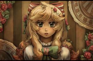 (Redraw) Flower girl by Ekkoberry