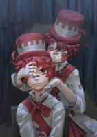 Doll and Left Eye Fukase by Ekkoberry