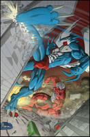 Xbuimonsama and Growlmon by X-Buimon-Sama
