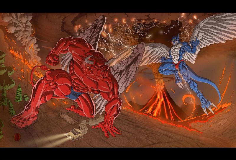 Hector and Xbuimon by X-Buimon-Sama