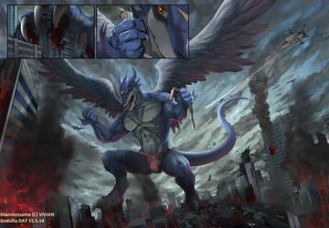 The King Returnd ! GODZILLA DAY by X-Buimon-Sama