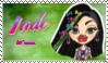 Jade Fan Stamp by NiteNitepillow
