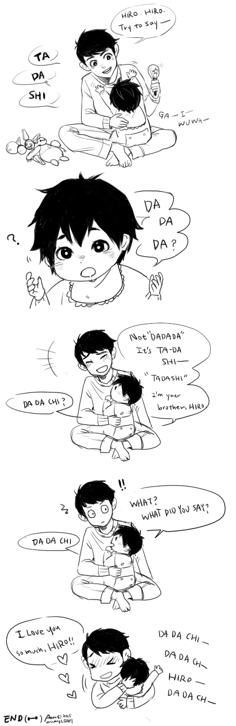 Bh6 little tadashi and baby hiro by chayi105 on deviantart