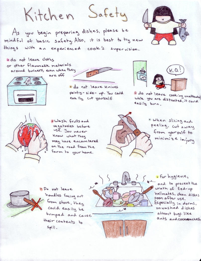 Kitchen safety by koumori no hime on deviantart for 6 kitchen accidents