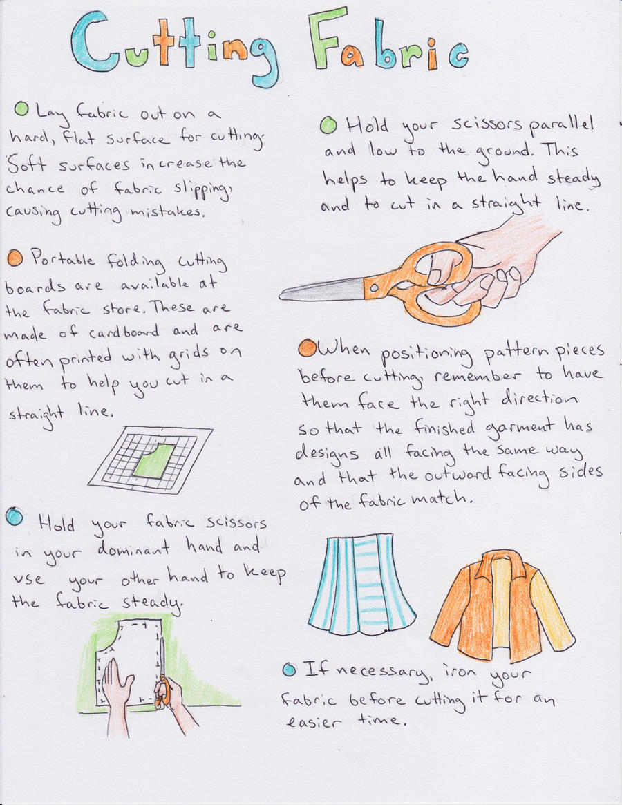 Fabric Cutting Tutorial by koumori-no-hime