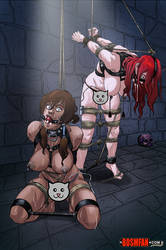 Dungeon Dames: Korra and Erza by bondage-fan-comics