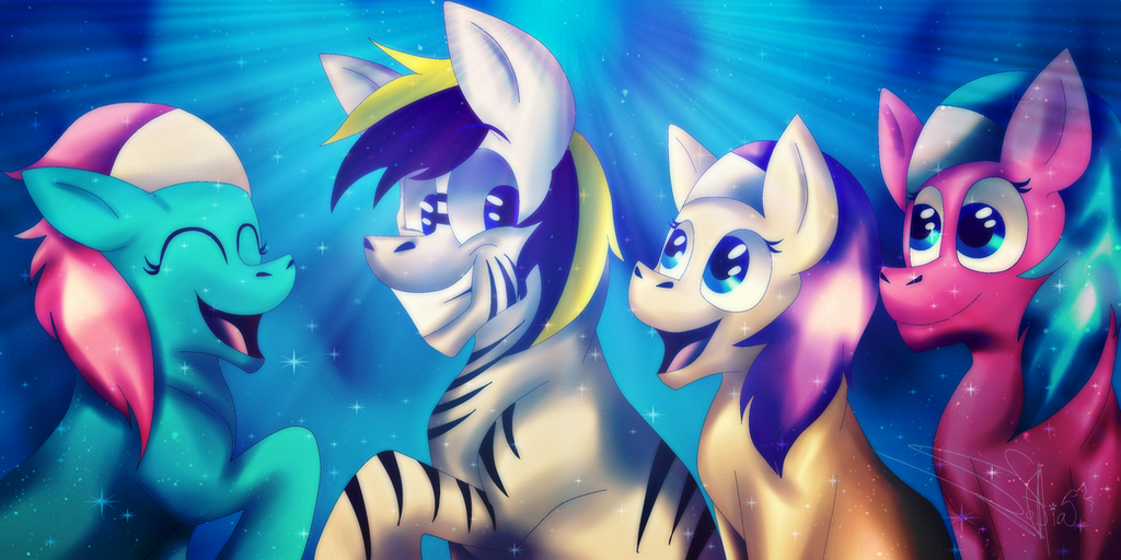 The best friends - Commission by Drawings-SofiaWolf