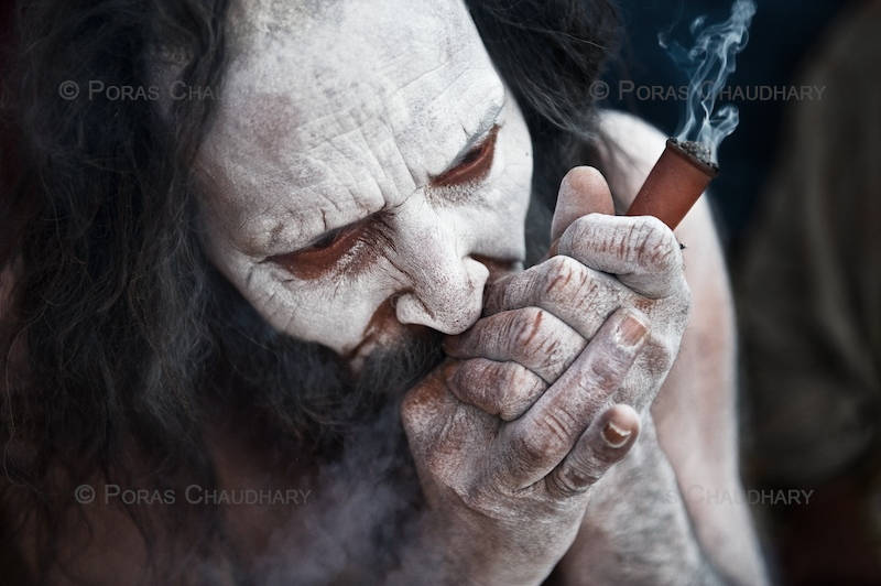Smoking Pot, Kumbh Mela by *poraschaudhary