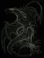 Wyvern Sketch by awesomedarkdragon