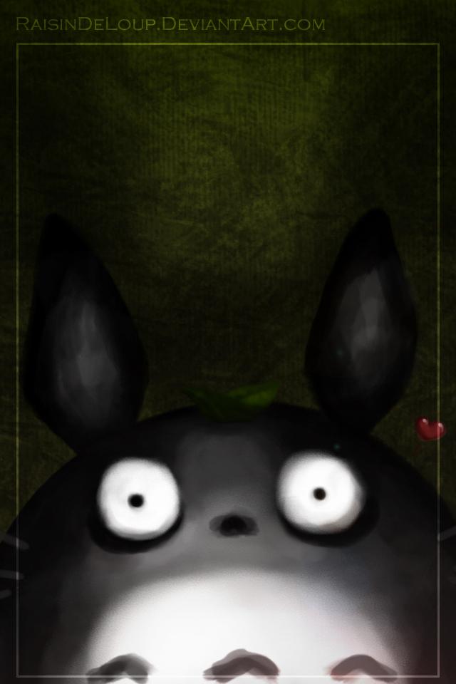 Dark Totoro Iphone 4 Version By RaisinDeLoup