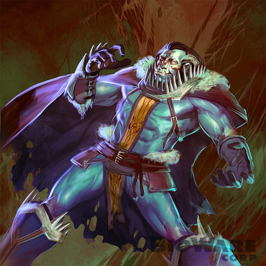 Age of Champions Blue Orc by anotherdamian