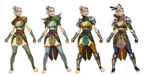 Heroes of Dragon Age elf keeper concept