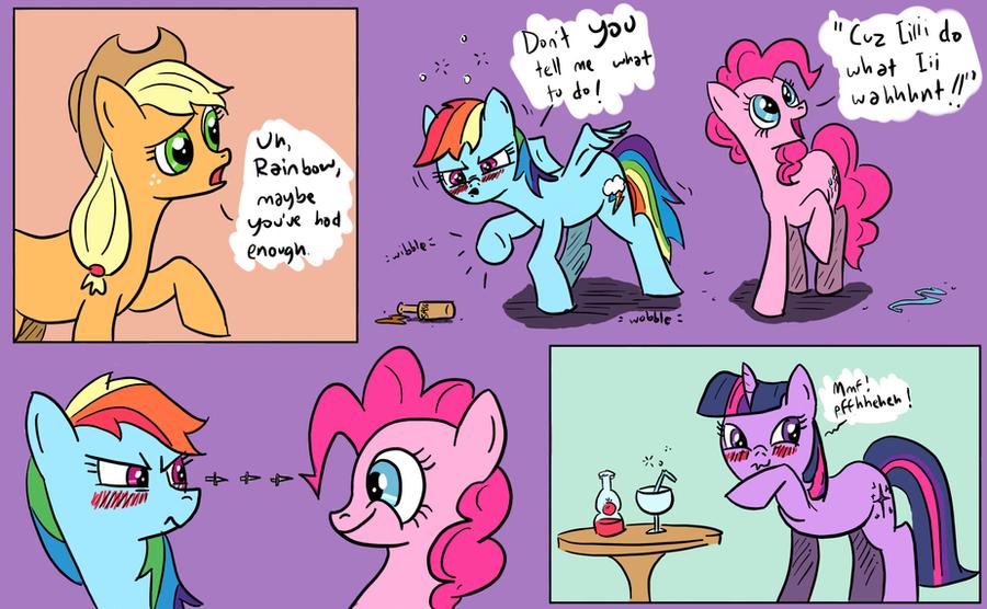 ponies get drunk by plasters-ponies