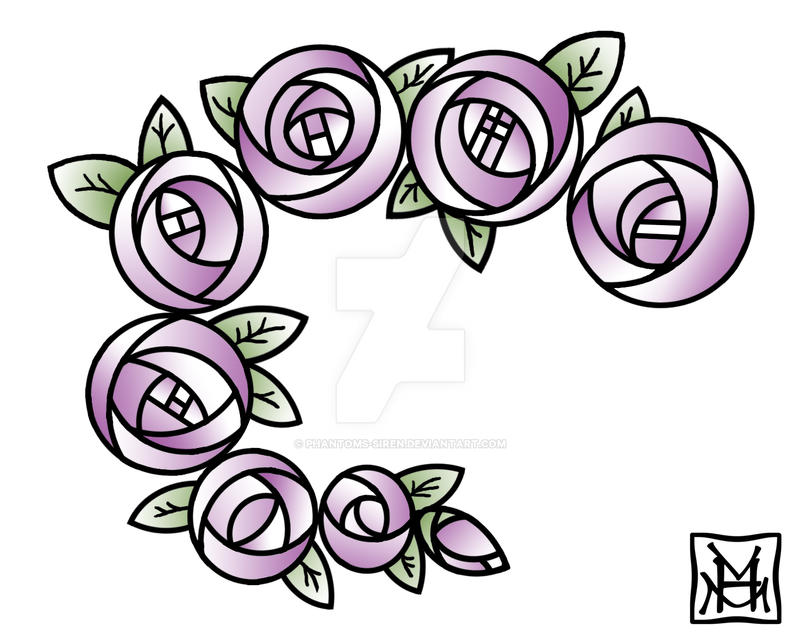 mackintosh roses tattoo by phantoms siren on deviantart. Black Bedroom Furniture Sets. Home Design Ideas