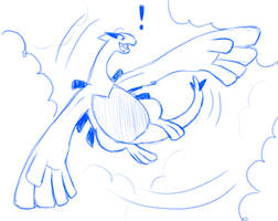 Lugia Chasing his Tail