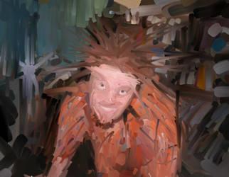 Self Portrait in Oil by glutnix