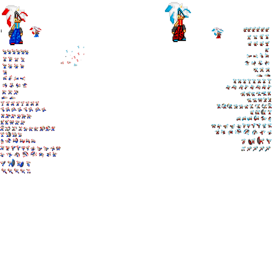 Ryu And Micheal Sprite Sheet By Tuffnick By