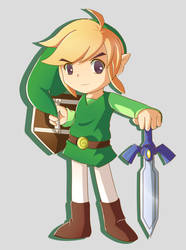 I drew Link by Imajenationss