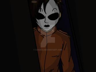 Masky at the doorway