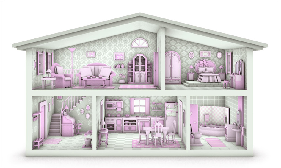 Line Art Doll House : Dollhouse by caillu on deviantart