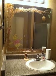 Pooh Bear Walkin' on my Mirror- 1