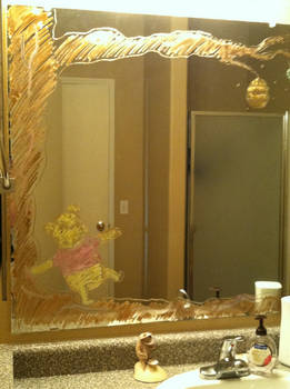 Pooh Bear Walkin' on my Mirror- 2