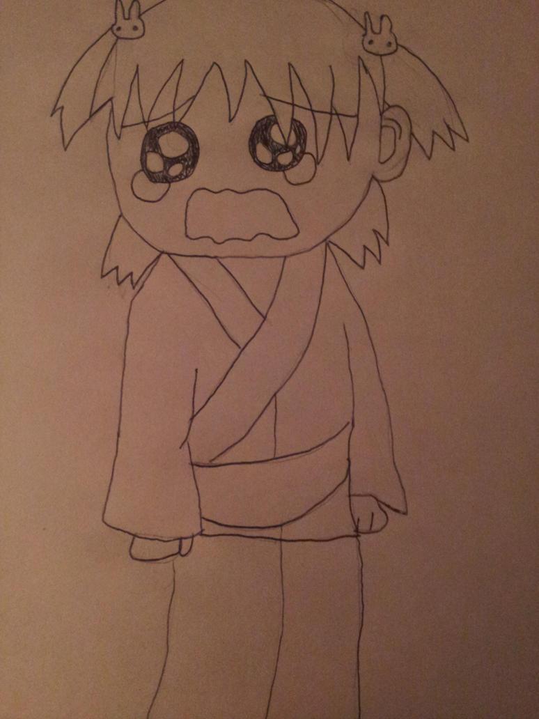 Yotsuba Crying by ninjazombiecupcake