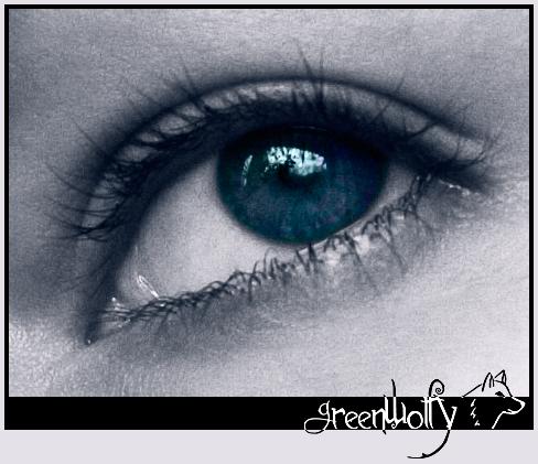 My eye by GreenWolfy