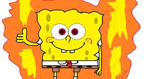 Cartoon Ball Z:Ssjg Spongebob
