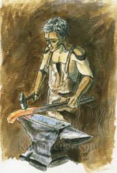 Kallon at the anvil