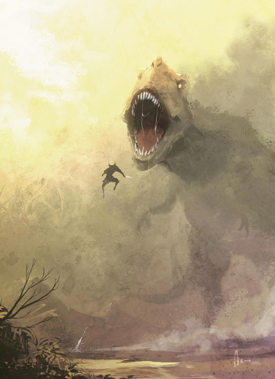 Wolverine vs T-rex