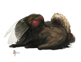 Giantfly and Maggot by nJoo