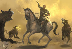 Cinderwolves Attack by nJoo