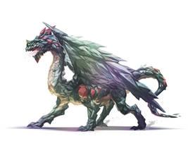 Crystal Dragon by nJoo