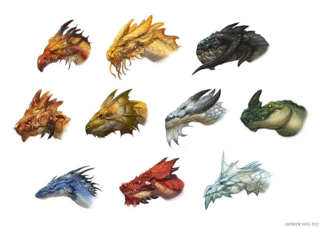 dragon heads 2012 by njoo on deviantart