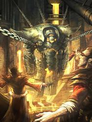 3 Wiz and Iron Golem by nJoo
