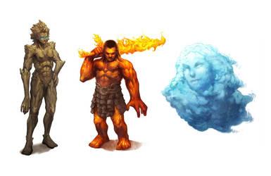 Elemental Gods by nJoo