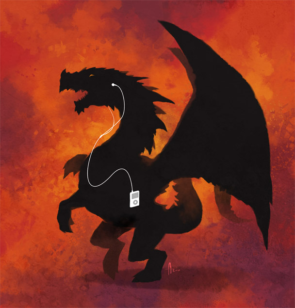 Dragon and Ipod