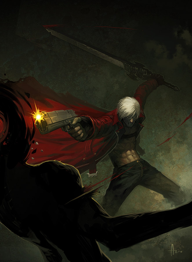 Secret CAPCOM Pinup - Dante by nJoo